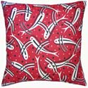 Fishes Pillow in Red